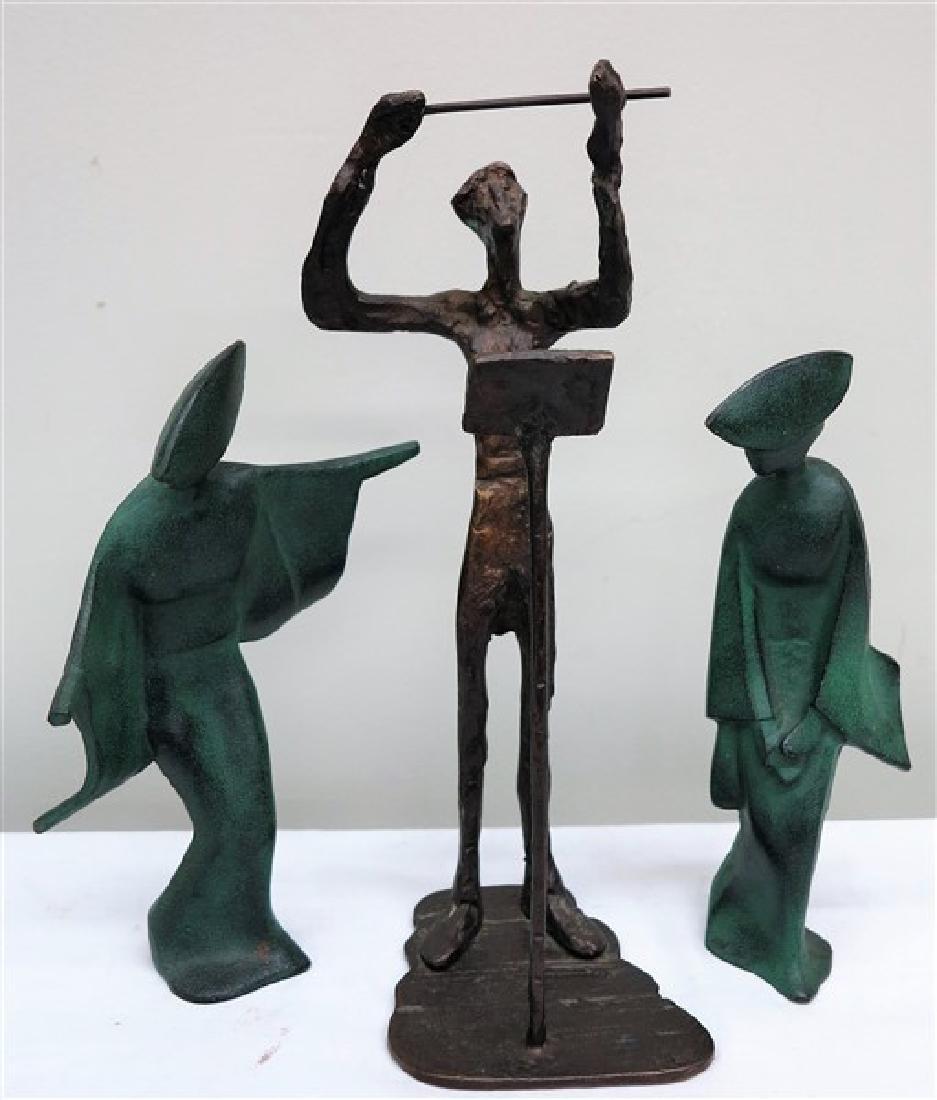 3 bronze figures