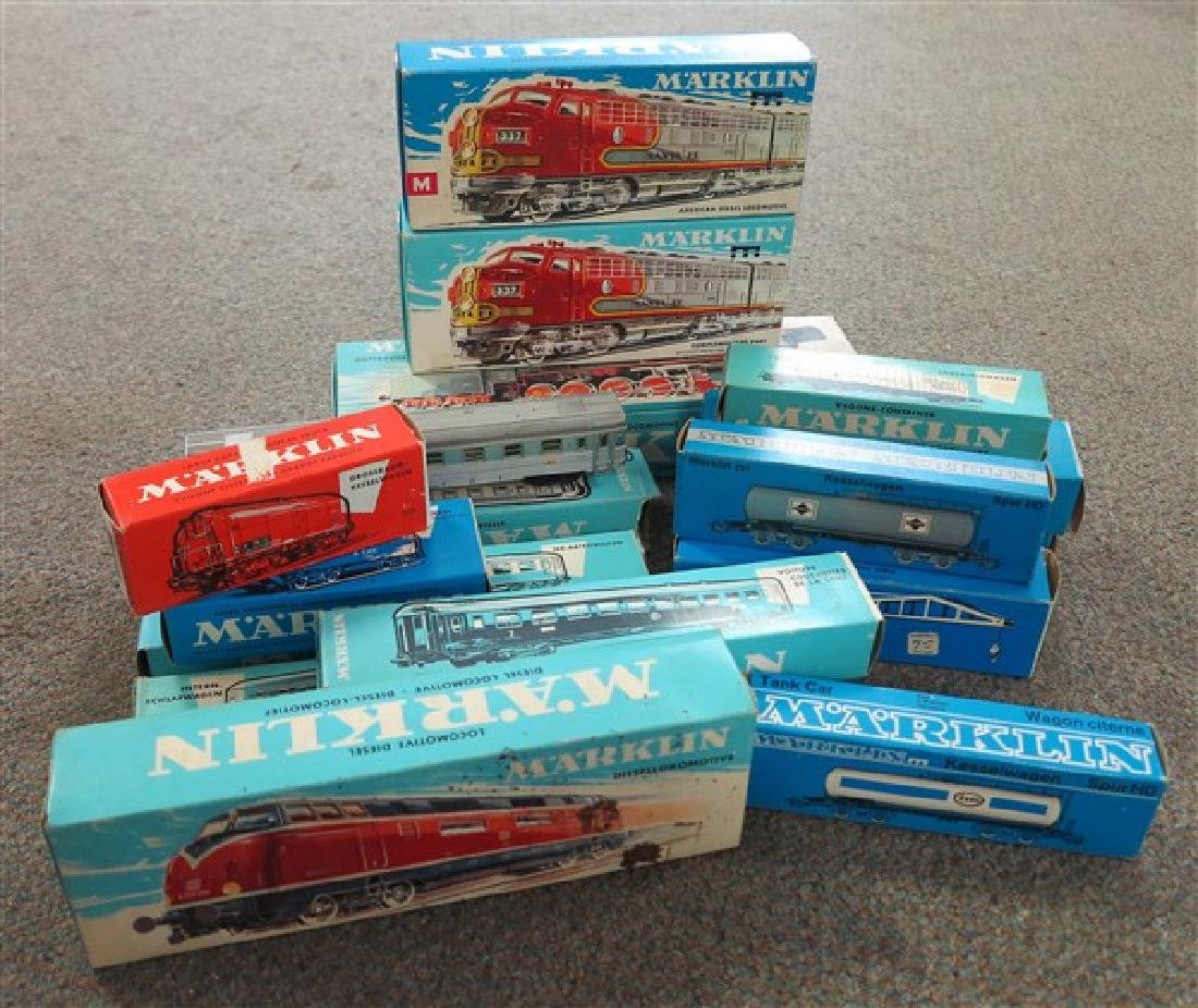 Lot of Marklin toy trains