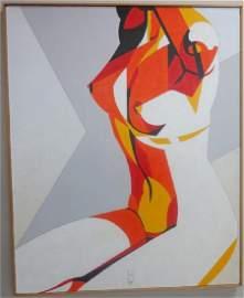 Acrylic on linen 34 X 42 Earl Hubbard