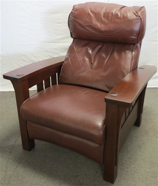 Fine Contemporary Stickley Leather Recliner Machost Co Dining Chair Design Ideas Machostcouk