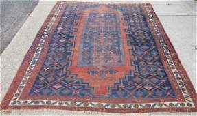 Antique Persian rug great size 59 X 78