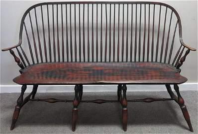 "60"" Pennsylvania Windsor bench W. Wallick"