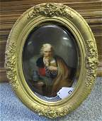 "19th century hand painted porcelain plaque 6 1/2"" X 9"""