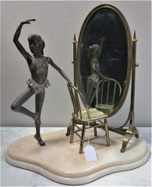 Bronze and Marble Sculpture/ Ramon Parmeter