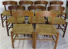 Set 9 modern chairs by Mobler