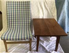 Modern chair and cherry table