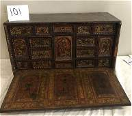 Very Nice Early Laquered Vargueno Cabinet