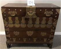 19th Cent. Oriental Cabinet on Base Beautiful Hardware