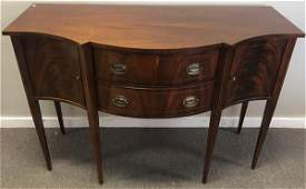 "Inlaid Mahogany Sideboard Hickory Chair 56""w x 23 x39""h"
