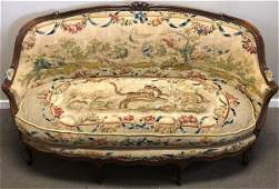 French 19th Cent. Walnut Tapestry Sofa