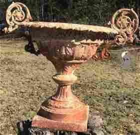 Antique 2 Handle Cast iron Urn
