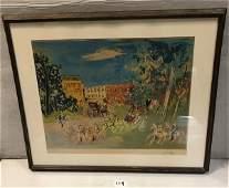 Pencil signed Jean Dufy Lithograph