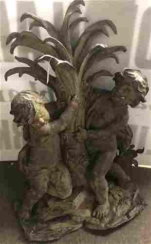 """Terrific 45"""" Bronze Garden Fountain"""