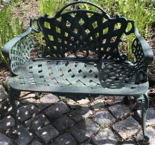 """35.5"""" Turn of The Cent. Cast Iron Bench"""