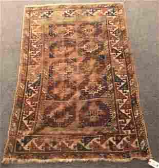 """Antique Persian Mat 3'8""""x5'6"""""""