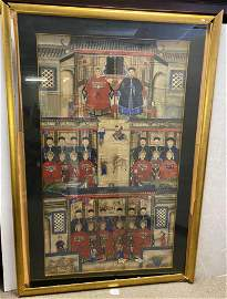 Early Early Framed Familial Painting