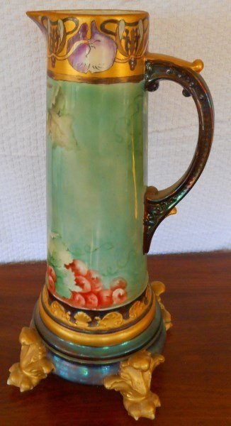 "15"" Limoge Tankard { 18"" overall with base}"