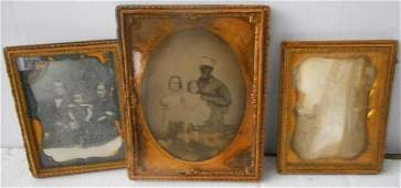 3 Framed Items, one unusual with Black Mamme(ambrotype)