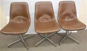 3 Leather Modern Chairs