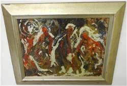 Framed Modern Abstract- Irving Rosenzweig  1974
