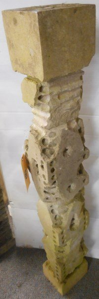 Steve Karr- 3 Part Limestone Column 44""