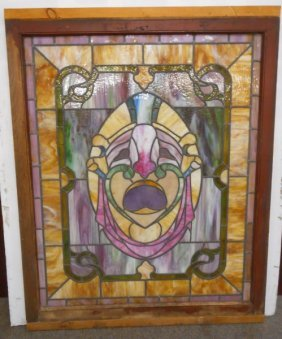 "Victorian Stained Glass Panel- 36"" X 48"""
