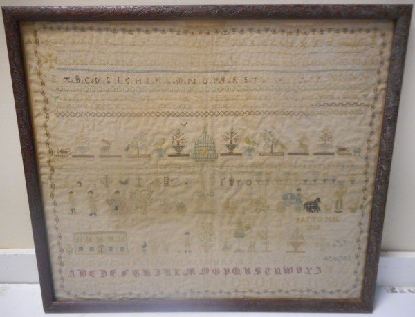 "Large Sampler Dated 1808- 20"" x 24"""