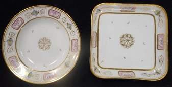2 Pc. White House Porcelain, John Quincy Adams- RARE!!!