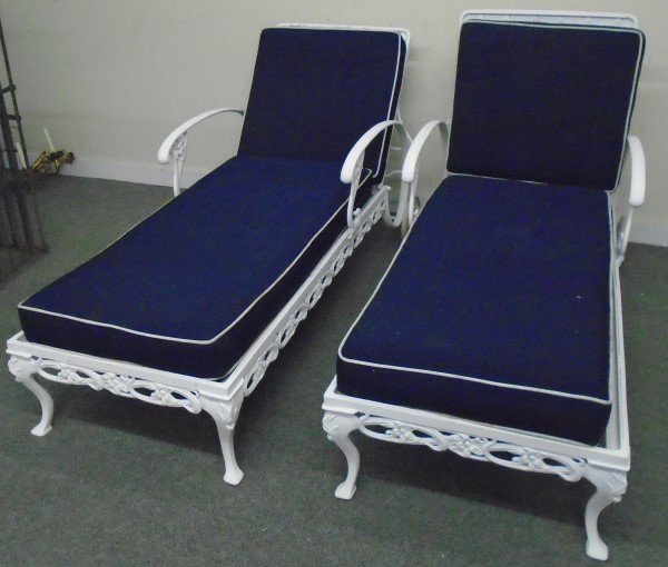 Pair of Brown Jordan Chaise Lounges
