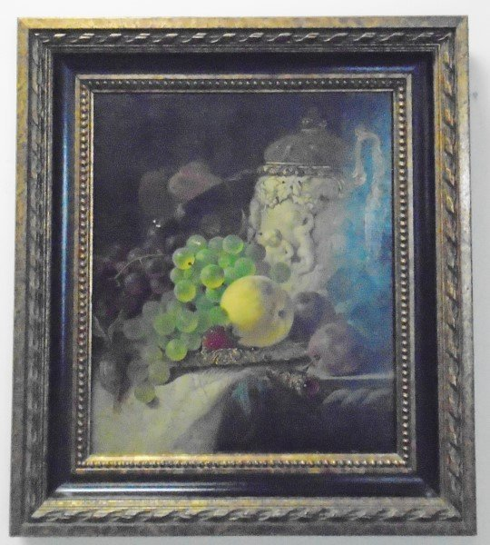 Extra Nice 19th Century Still Life Oil Painting-signed