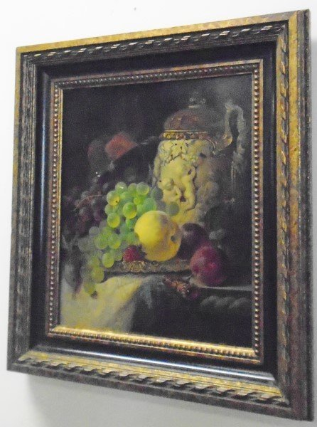 Extra Nice 19th Century Still Life Oil Painting-signed - 2