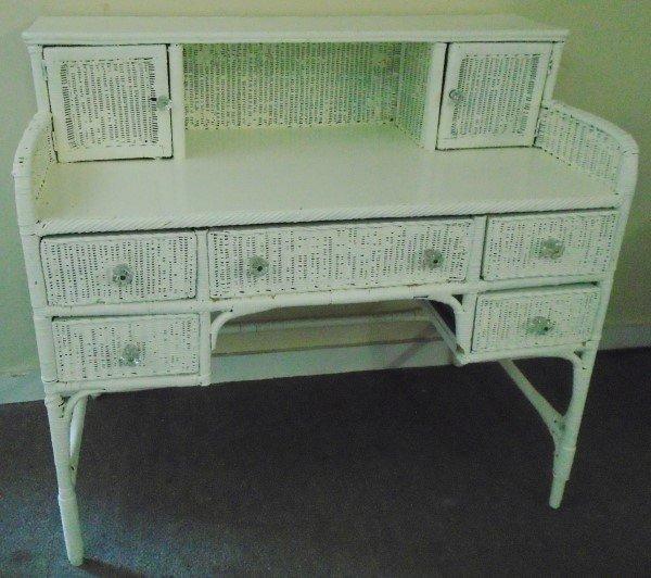 Antique Wicker Writing Desk