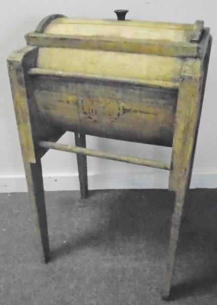 Nice Butter Churn in Yellow Paint