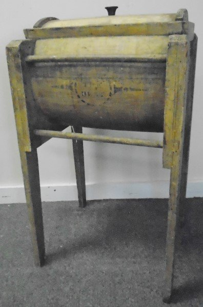Nice Butter Churn in Yellow Paint - 2