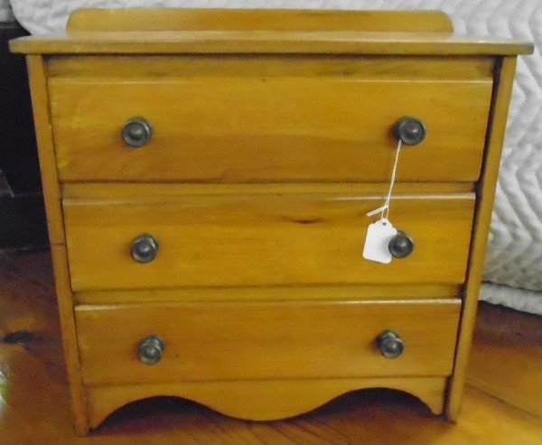Early Diminutive 3 Drawer Chest