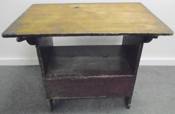 Early Hutch Table in Red Wash