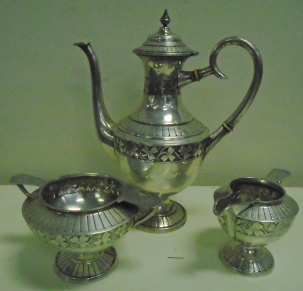 3 Pc Sterling silver Tea Set