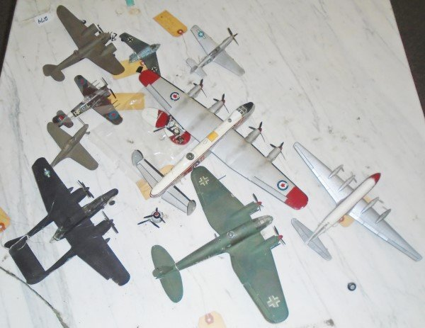 9Pc Airplane Model Lot