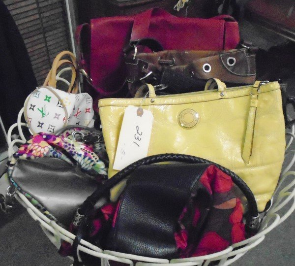 Lot of 8 Handbags,Coach,Dooney Bourke,Louis Vuitton
