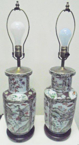 2 Oriental Lamp Bases
