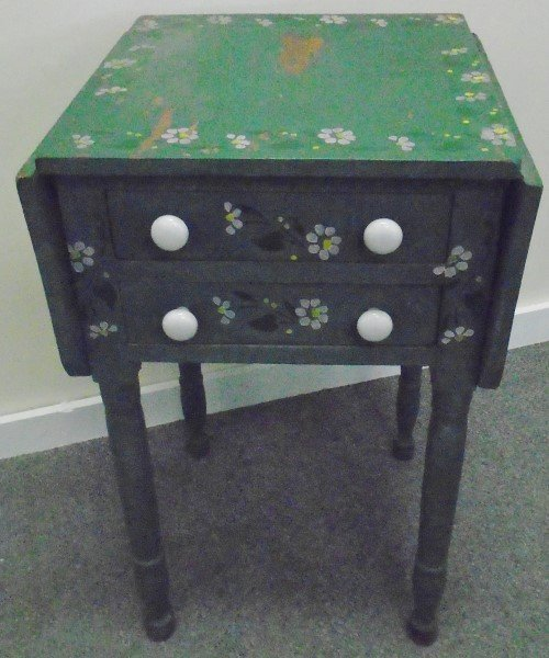 2 Drawer Painted Stand