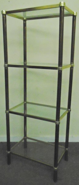 4 Tier Glass and Brass Etiger