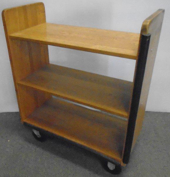 Rolling Industrial Wooden Cart