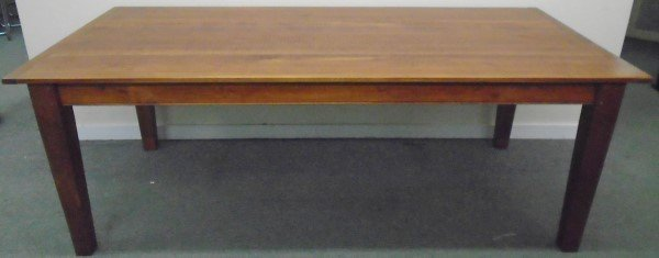 7' Four Board Cherry Farm Table with Breadboard Ends,
