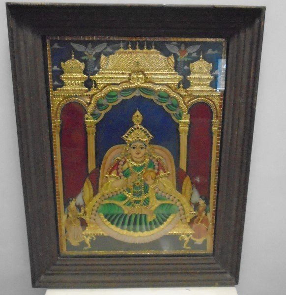 "19th Century Framed Oriental Temple Images- 22"" x 28"""