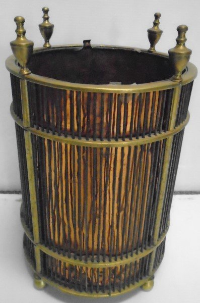 Exceptional Copper Lined and Brass Umbrella Stand