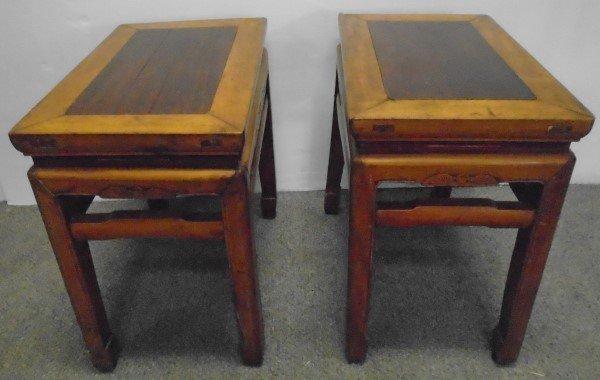 "Pair of Antique Oriental Stands- 20""h"