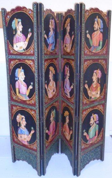 4 Panel Karmasutra Hand Painted Screen