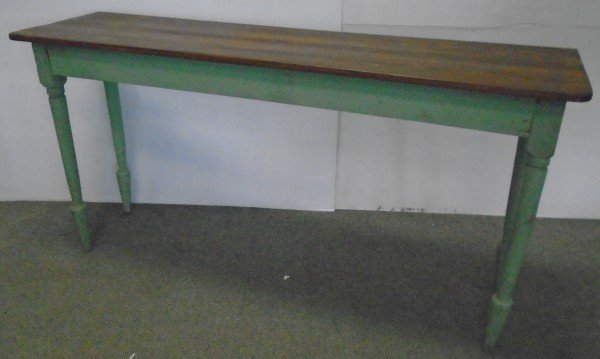 """Country Console Table in Paint- 16.5""""d x 30""""h x 60""""W"""