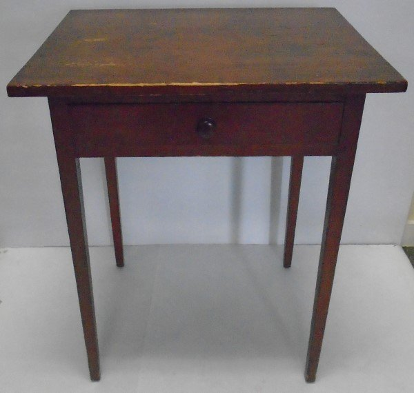 Classic American Tapered Leg one Drawer Stand